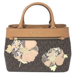 Michael Kors Brown/Acorn Floral Hailee